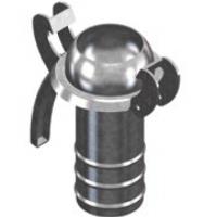 Ниппель под шланг, 76х76, с ограничительным кольцом