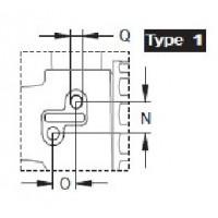 Кран 3х ходовой; тип ручки LL; крепление TYPE 1; вх.-вых.1