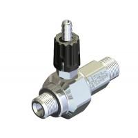 Удлиненный эжектор для моющих средств регулируемый сопло 1,4; вход 3/8ш- выход 3/8ш. (нерж)