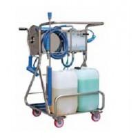 Моб. установка  с пеногенер. системой Foam & Wash, 10-100 бар, с подачей воздуха, на 2 ср-ва