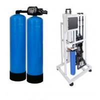 Модуль водоподготовки, осмос 400 л/ч + двойная колонна умягчитель + насос