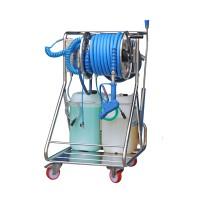 Моб. установка  с пеногенер. системой Foam & Wash, 10-100 бар, с подачей воздуха, на 1 ср-во