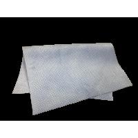 Искусственная замша перфорированная голубая 40х55, 300gsm