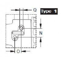 Кран 2х ходовой; тип ручки LL; крепление TYPE 1; вх.-вых.Г1