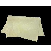 Искусственная замша, перфорированная желтая 40х55, 250 gsm