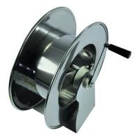 Барабан ручной усиленный для рукава 50м 1/4 или 25м. 1/2(нерж.) 1/2ш.1/2ш. 200 бар.