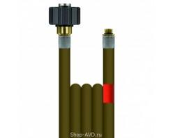 Шланг высокого давления R+M Suttner для промывки канализационных труб (длина — 40 м, диаметр — 4 мм)