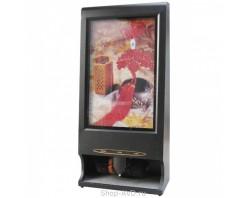 Аппарат для чистки обуви с рекламным щитом 54х86 см