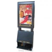 Аппарат для чистки обуви с рекламным щитом 47х68 см