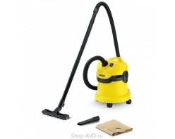 Пылесос Karcher WD 2 для сухой и влажной уборки