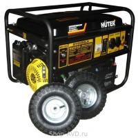 Huter DY6500LX Портативный бензиновый генератор на колесах