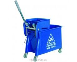 ACG Ведро с отжимом на колесах 20 л синее