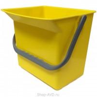 Euromop Пластиковое ведро для автомойки 6 л (желтое)