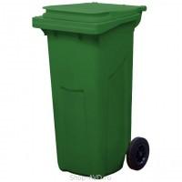 Зеленый мусорный контейнер МКТ 120 литров