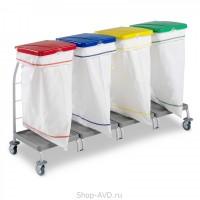 TTS Тележка для сбора мусора Dust (4x70 л)