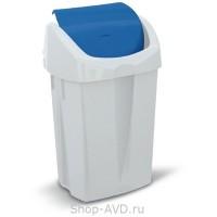 Euromop Пластиковая корзина для мусора с плавающей крышкой LEONARDO 25 л
