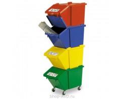 TTS Контейнер для мусора SPLIT 45 л (с маркировкой)