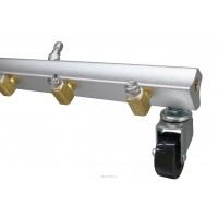 Насадка для мойки днища КОМБИ 6 форсунок+пена (ширина 600мм) вход 1/4 ш. смыв , вход 1/4 ш. для пены