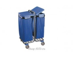 Тележка BOL Equipment для сбора мусора 10.106Н, 2 х 120 л (2)