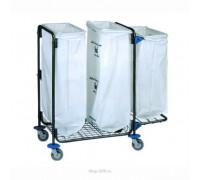 Тележка для сбора мусора BOL Equipment, 3 х 120 л, 95.130
