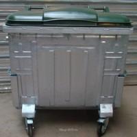 Мусорный контейнер оцинкованный с пластиковой крышкой 1100 л