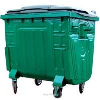 Мусорный контейнер окрашенный с пластиковой крышкой 1100 л