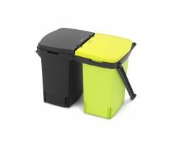 Brabantia Ведро для мусора двухсекционное встраиваемое 2х10 л