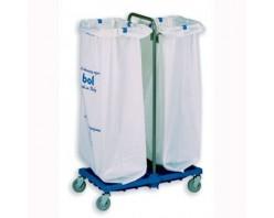 Тележка BOL Equipment для сбора мусора, 10.113H, металл, 2 х 120 л