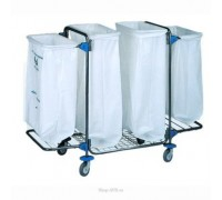 Тележка для сбора мусора BOL Equipment (95.128), 4 х 120 л (2)