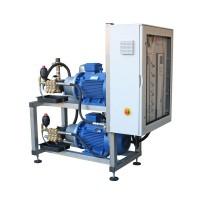 Установка 2 насоса 66 л/мин 230 бар  30 кВт на раме нерж. на 2 оператора. с автом.