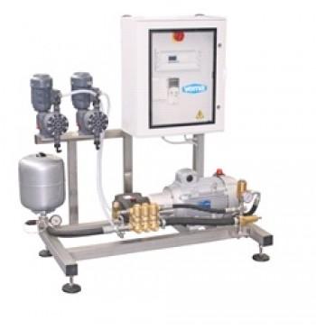 Установка 48 л/мин 150 бар с подачей моющих средств с пультом управления