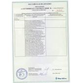 Сертификат соответствия R+M - Приложение 11