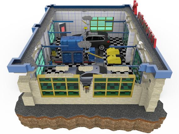 План автомойки и размещение оборудования